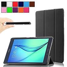 Infiland Samsung Galaxy Tab A 8.0 case, Ultra Slim Tri-Fold Smart Case cover for Samsung Galaxy Tab A 8-Inch SM-T350 Tablet (2015 New Version) (Black)