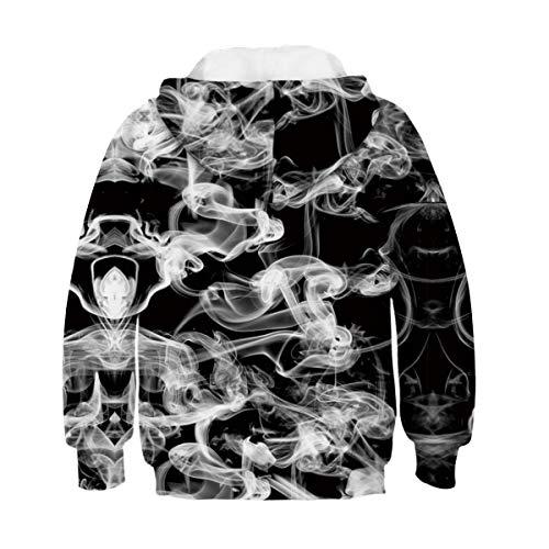 B a Sudadera Girl Boy de Sudadera 3d capucha Aideaone Smoke 16 con os 6 7wv7qCa