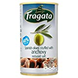 Fragata Olives Stuffed with Anchovy Reduced Salt 350g - Pack of 6