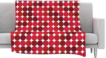 40 x 30 KESS InHouse KESS Original Noblefur Red Dots Fleece Baby Blanket