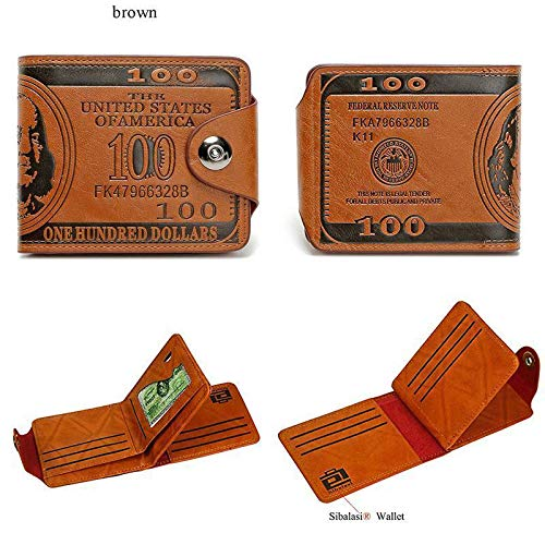 RULONG Sibalasi-New Mens US Dollar Wallet Bill Money Bifold Safe Purse With Magnetic