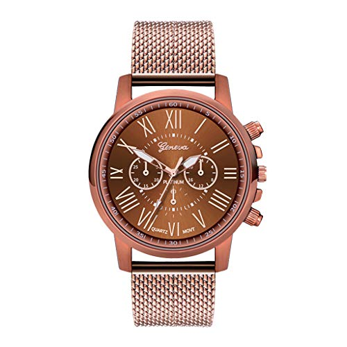 Orcbee  _Luxury Watches Quartz Watch Stainless Steel Dial Casual Bracele Watch (Coffee)