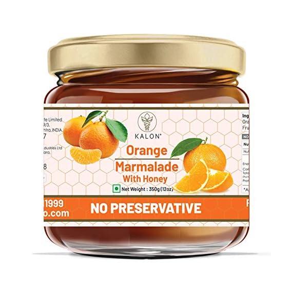 Kalon Honey Orange Marmalade Fruit Spreads Preserved with 100% Organic Honey & Orange Marmalade, Nutrients Rich, No