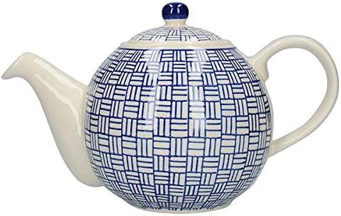 Color Blanco y Blanco dise/ño de Lunares cer/ámica, 6 Tazas, 1,6 L Tetera con colador London Pottery