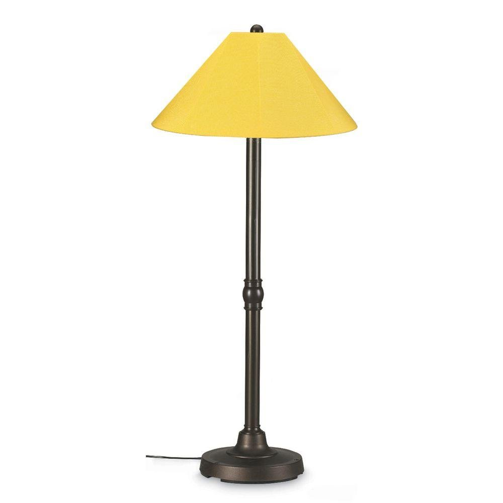 Patio Living Concepts San Juan 60 in. Outdoor Bronze Floor Lamp with Buttercup Shade