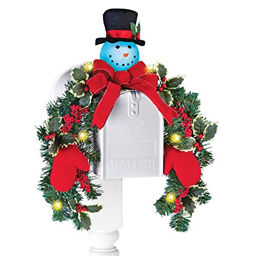 Outdoor Lighted Snowman Head - 4