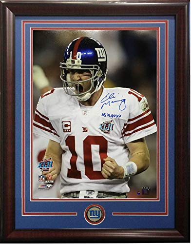 Eli Manning Autographed Signed 16x20 Photo Ins Sb Xlii MVP Scream Framed Giants Coin Steiner ()