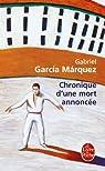 Chronique d'une mort annoncée par Márquez