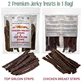 Cheap Best Dog Treats, All NATURAL Dog Jerky Treats Made in USA ONLY, 2 Premium Flavors in 1 bag, Chicken & Beef Strips, Healthy Teeth, Grain & Gluten Free, Great Diabetic Treat, SUGAR FREE, Dental Chews