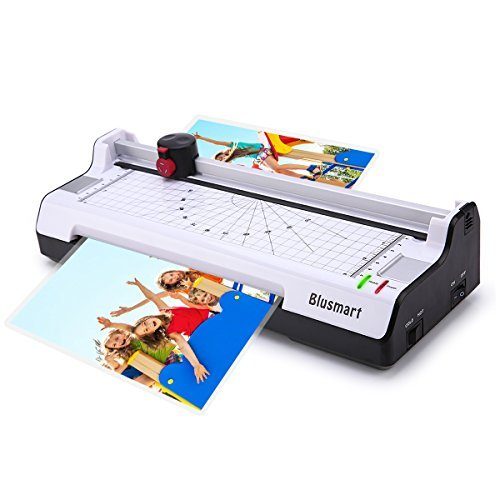 3 in 1 Blusmart OL288 Laminator, Laminating Machine Set with Paper Trimmer & Cutter & Corner Rounder, Thermal and Cold Laminating Fast Warm-up Paper Jam Prevention (White)