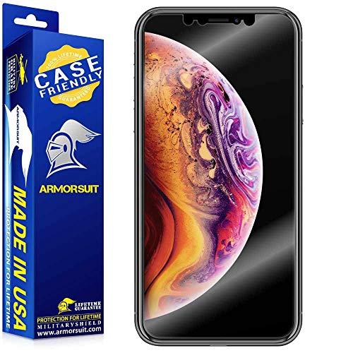 ArmorSuit Apple iPhone Xs Screen Protector [Case Friendly] MilitaryShield Case Friendly Screen Protector Compatible with Apple iPhone Xs - HD Clear Anti-Bubble