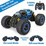 Jasonwell RC Car Off-Road Vehicles Remote Control Rock Crawler Cars Buggy 2.4Ghz 1:16 Monster Truck 4WD Dual Motors Electric Racing Car Kids Toys RTR Rechargeable Buggy Hobby Car