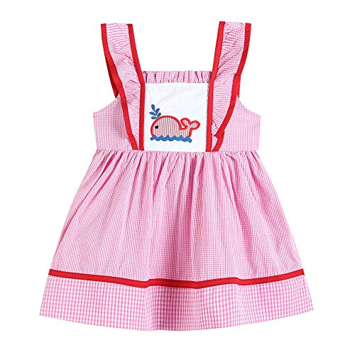 - 32338020093 A-Line Dress in Pink with Whale