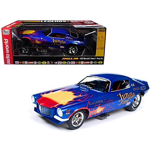 """1972 Chevy Camaro """"Jungle Jim"""" Funny Car Limited Edition to 750 pieces 1/18 Diecast Model Car by Autoworld AW1180"""