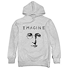 John Lennon Imagine Eyes Glasses Hoody Sweatshirt For Men Ash