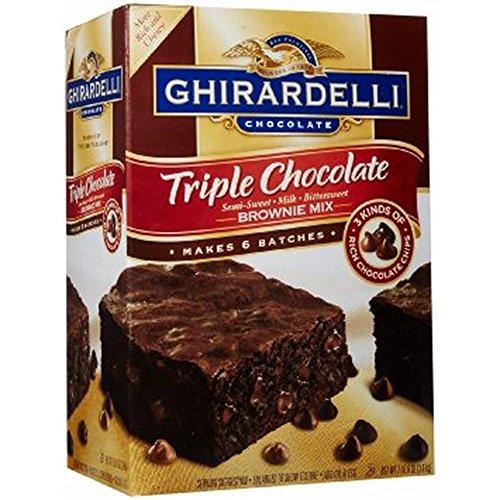 Ghirardelli Triple Chocolate Brownie Mix, 3 pk.