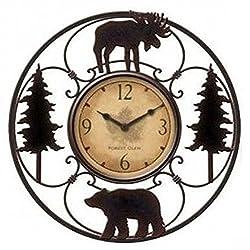 Wildlife Wire Wall Decoractive Clock 11 Total Diameter, 6 Clock Diameter