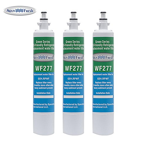 Aqua Fresh WF277 Replacement Water Filter For GE RPWF (Not RPWFE), Water Sentinel WSG-4 Water Filter (3 Pack)