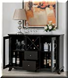Cappuccino Multi-Storage Dining Buffet. This Combo of Cabinets, Drawers and Wine Bottle Slots Ensures You Have Enough Space In Your Dining Room Area For Your Favorite Plates Or Spirits. For Sale