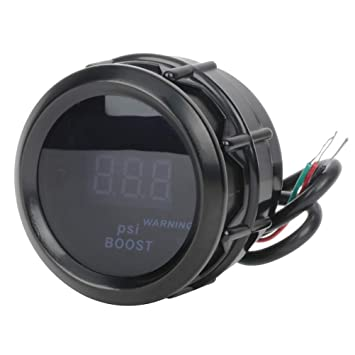 cciyu Auto Boost Gauge LED Electronic Car Motor Universal 2 inch 52mm Turbo Boost Gauge Meter Digital Style Smoke Tint Lens 30PSI