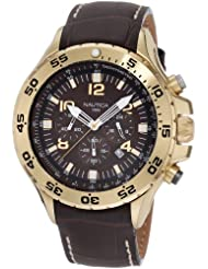 Nautica Mens N18522G NST Gold-Tone Stainless Steel Watch