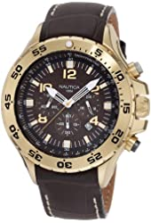 Nautica Men's N18522G NST Gold-Tone Stainless Steel Watch