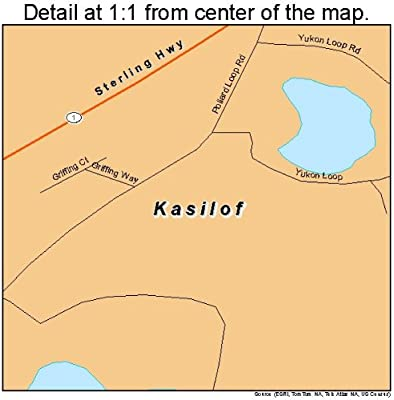 Amazon.com: Large Street & Road Map of Kasilof, Alaska AK - Printed on manley hot springs map, cordova map, eielson afb map, new stuyahok map, holy cross map, marshall map, yakutat map, adak map, king salmon map, talkeetna map, mountain village map, nome map, anchorage map, homer map, big lake map, whittier map, wainwright map, tustumena lake map, sitka map, st. paul island map,