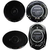 2) Kenwood KFC-1695PS 6.5 320W 3-Way + 2) KFC-6985PS 6x9 600W 4-Way Speakers