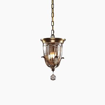 MEGSYL Lámpara de techo de cristal retro, lámpara simple del ...