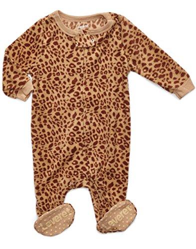 Fleece Footed Sleeper Leopard Design 12-18 Months
