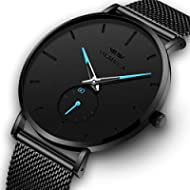 OLMECA Men's Watches Fashion Simple Watches Ultra Thin Wristwatches Waterproof Quartz Women...