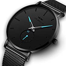 OLMECA Men's Watches Fashion Simple Watches Ultra Thin Wristwatches Waterproof Quartz Women Watches Chronograph Watch for Men (A)