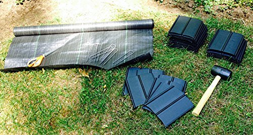 Pro 5 Ounce Weed Barrier - Weed Control Landscape Fabric - Woven Geotextile Fabric - Erosion Control Mulch Mat - Garden Ground Cover Fabric - 6Ft X 250Ft Black by UNI-SOURCE-TEXTILE (Image #5)