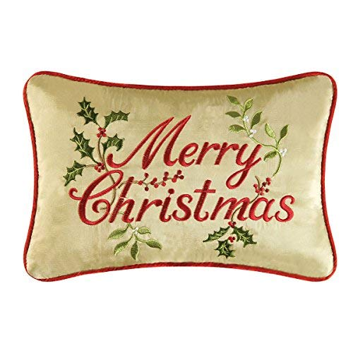 8x12 Embroidery Pillow, Merry Christmas by C&F [並行輸入品] B07R97G8TH