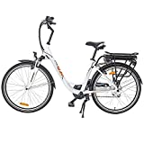 Onway 26 Inch 6 Speed Woman City Electric Bicycle, 36V 250W Aluminium Alloy E Bike with Pedal Assist and Twist Throttle Review
