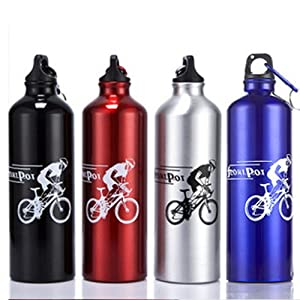 Meanhoo Convenient Cool Cycling Bicycle Stainless Steel 750 ML Sports Water Bottle BBUS(silver)