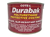 Durabak Original (For Indoors), TEXTURED version - Non Slip Coating, Bedliner, Deck Paint for ALL Boats - Many colors to choose from! - SAFETY RED (bright) - QUART