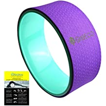 "GreEco Yoga Wheel Pilates Roller-- Extra Strength Prop in Yoga Backbends & Poses, Back Opener, Relieve Back aches, 13"" x 5"", Different Color Available"