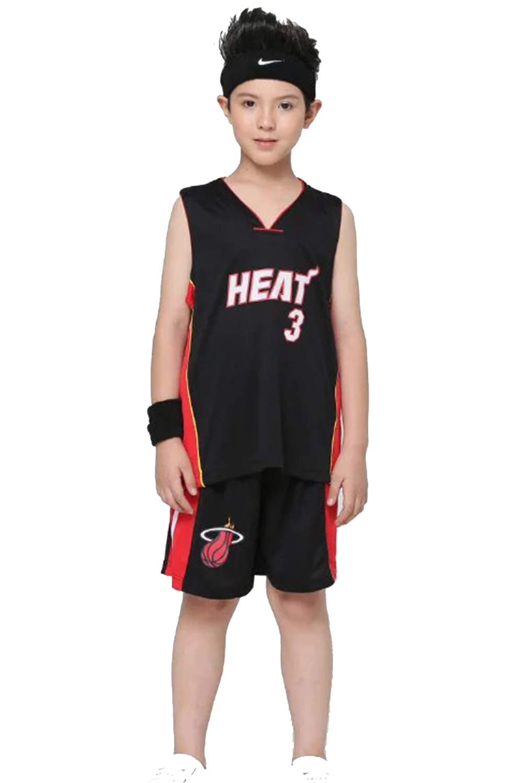 OLIS Niño Ropa de Baloncesto NBA Heat #3 Wade Jersey Pantalones ...