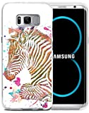 zebra print phone accessories - S8 Plus Case - CCLOT Compatible Flexible TPU Protective Silicone Cover Protector Case Replacement if applicable For Samsung Galaxy S8 Plus - Zerba Colorful Beautiful Little Zebra Animal Print