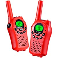 Walkie talkies for kids by KarviPack,22 channel two way radio for kids Easy to use 3-5 Miles(Red)