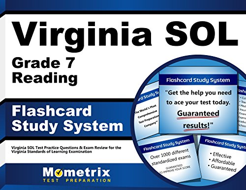 Virginia SOL Grade 7 Reading Flashcard Study System: Virginia SOL Test Practice Questions & Exam Review for the Virginia Standards of Learning Examination (Cards)