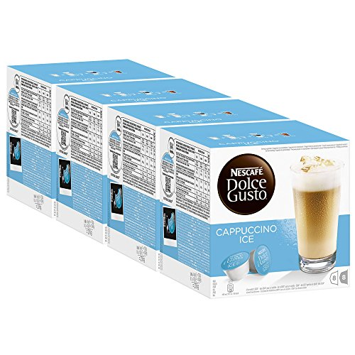Nescafé Dolce Gusto Cappuccino Ice, Pack of 4, 4 x 16 Capsules (32 Servings) ()