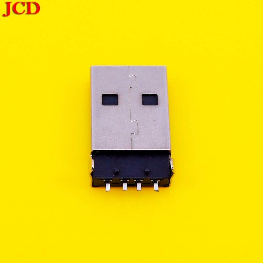 lot USB 2.0 Male A Type USB PCB Connector Plug 180 Degree SMT SMD Male USB Connectors DIY USB 2.0 Connector Computer Cables Yoton 20Pcs Cable Length: USB 2.0 Jack, Color: White