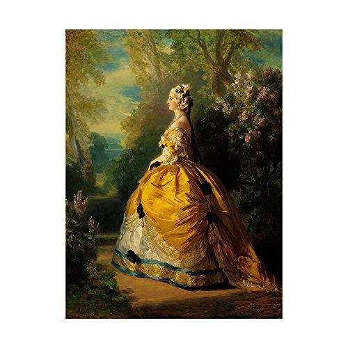 The Empress Eugenie 1854  by Franz Xaver Winterhalter, 14x19-Inch