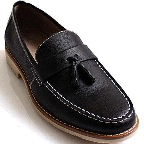New Mooda Nappa Mocassini Fashion Slip On Sneakers Uomo Casual Dress Shoes Nero