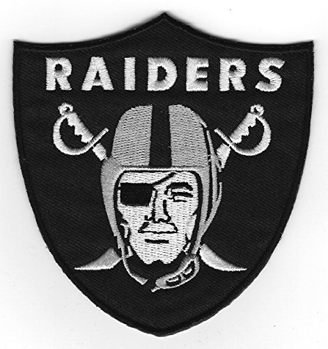 Oakland Raiders Football Team Iron On Patch 3.75 inch