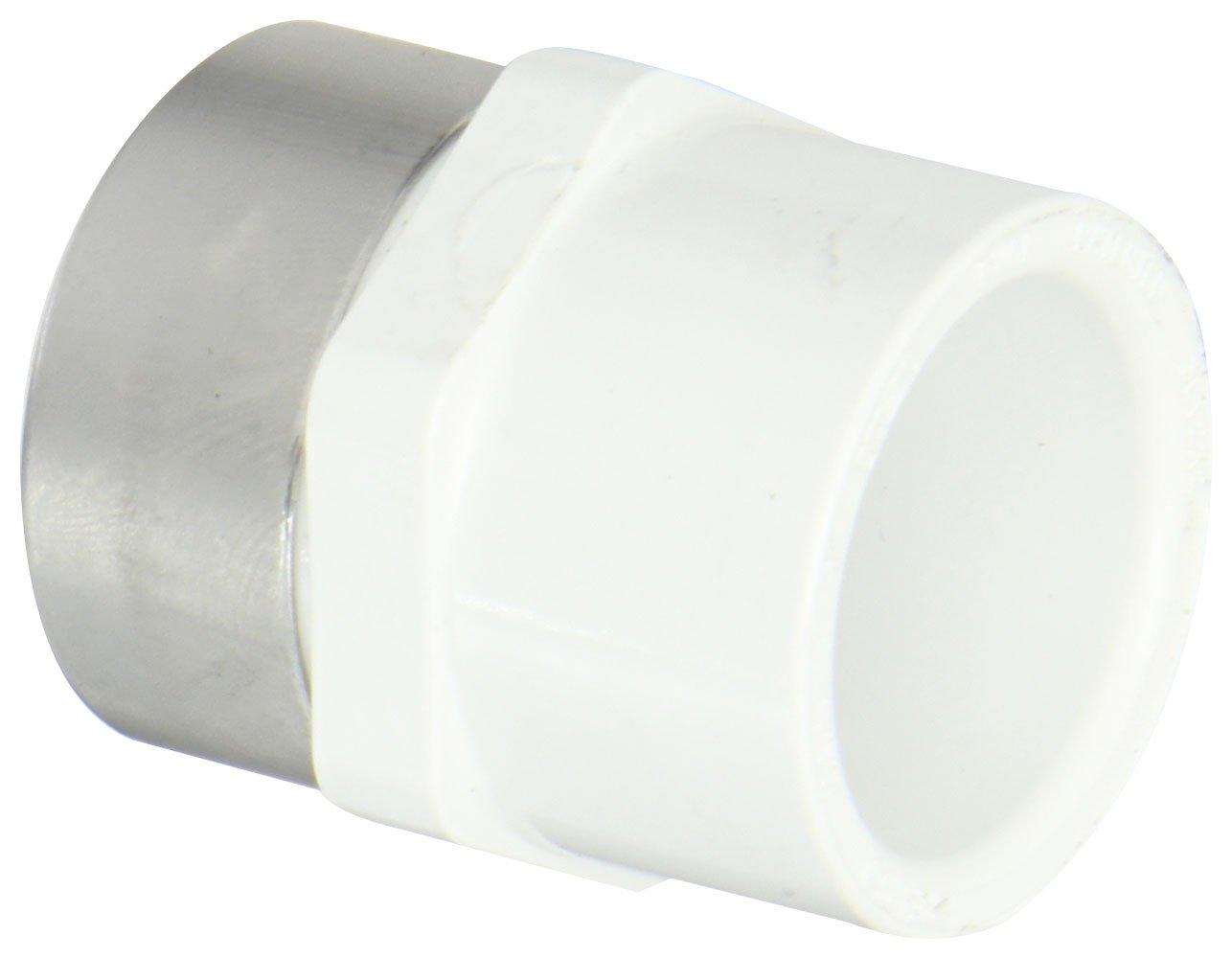 Spears 435-SR Series PVC Pipe Fitting, Adapter, Schedule 40, 1'' Socket x 1'' Steel Reinforced NPT Female