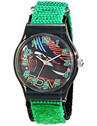 Kids' W001712 Cars Analog Watch With Green Band