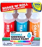 RoseArt Sidewalk Chalk Paint Shake N Roll Painters, 3ct